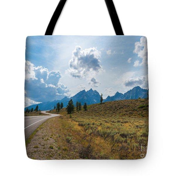 The Winding Road Tote Bag by Sharon Seaward
