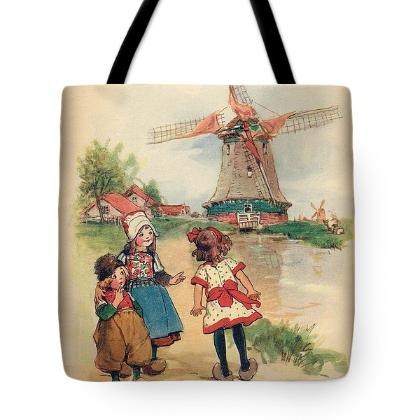 The Windmill And The Little Wooden Shoes Tote Bag