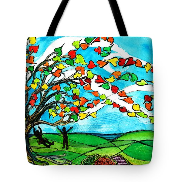 The Windy Tree Tote Bag