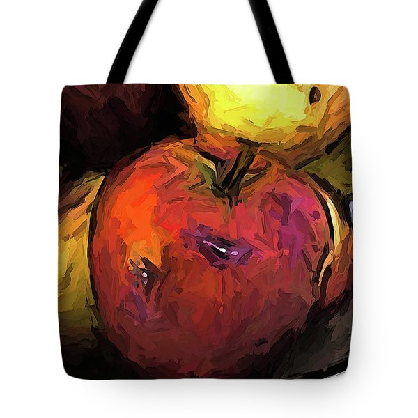 The Wine Apple With The Gold Apples Tote Bag