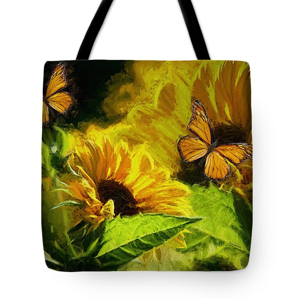 The Wings Of Transformation Tote Bag by Tina  LeCour