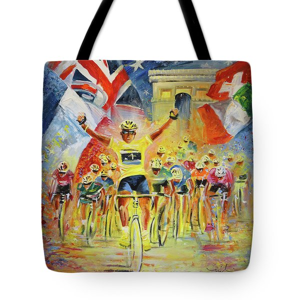The Winner Of The Tour De France Tote Bag