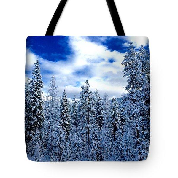 The Winter Blues  Tote Bag by Jennifer Lake