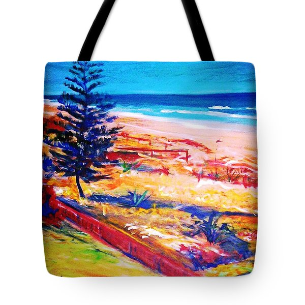 Tote Bag featuring the painting The Winter Dunes by Winsome Gunning
