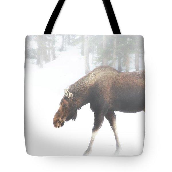 The Winter Moose Tote Bag