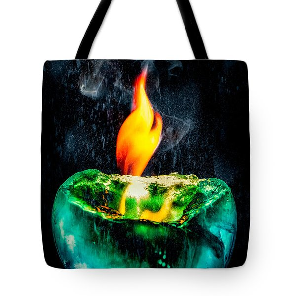 Tote Bag featuring the photograph The Winter Of Fire And Ice by Rikk Flohr
