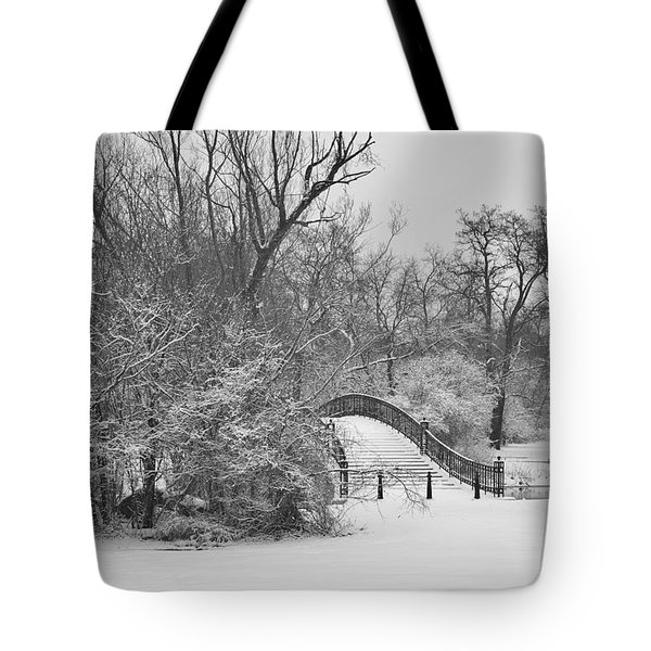 The Winter White Wedding Bridge Tote Bag