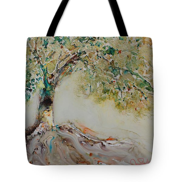Tote Bag featuring the painting The Wisdom Tree by Joanne Smoley