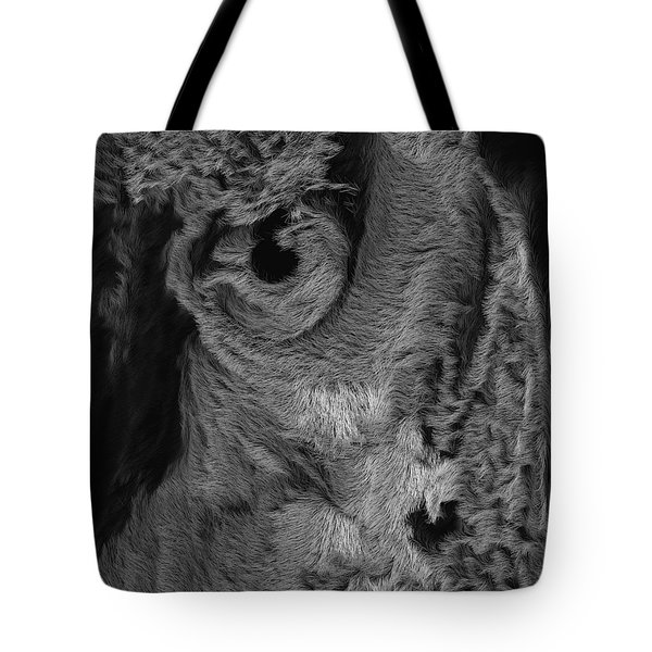 The Old Owl That Watches Blk Tote Bag