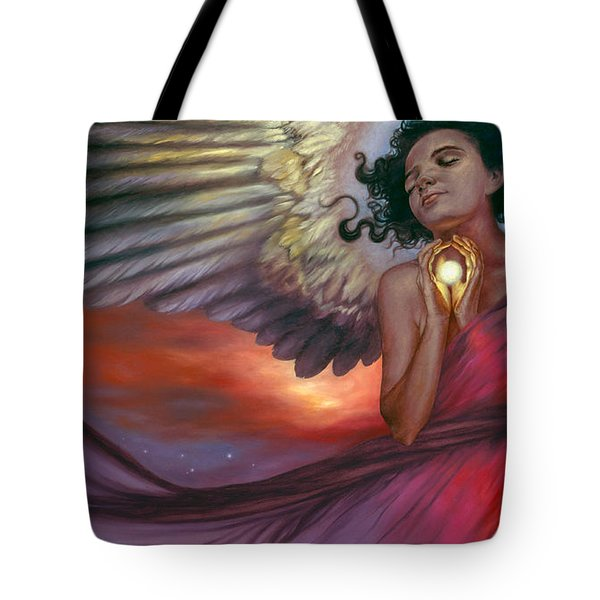 Tote Bag featuring the painting The Wish Bearer by Ragen Mendenhall