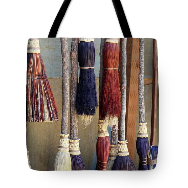 The Witches Brooms Tote Bag by Enzie Shahmiri