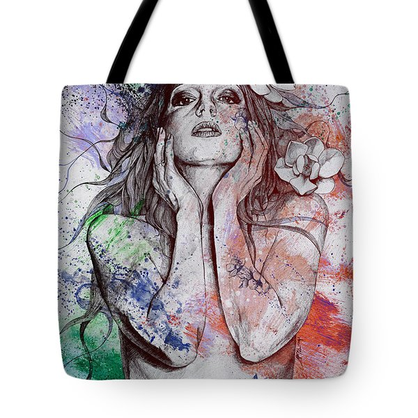 The Withering Spring - Wine Tote Bag