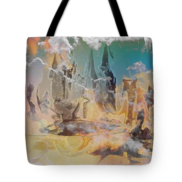 Tote Bag featuring the painting The Wizard By Sherriofpalmsprings by Sherri  Of Palm Springs