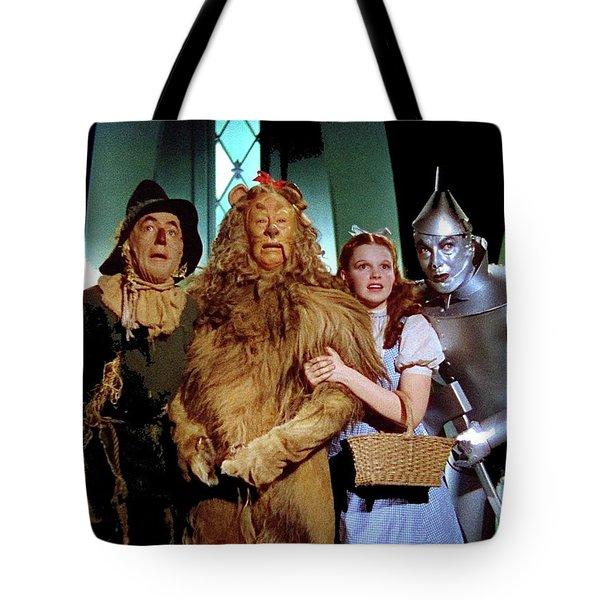 The Wizard Of Oz  Quartet Eric Carpenter Publicity Kodachrome 1939 Tote Bag