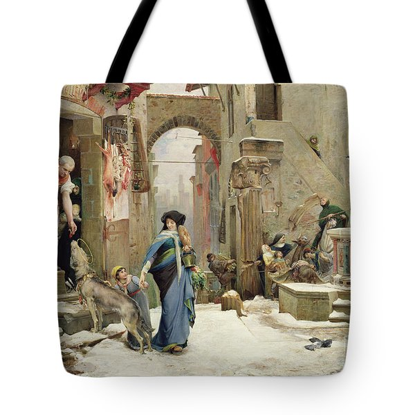 The Wolf Of Gubbio Tote Bag