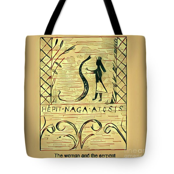 The Woman And The Serpent Tote Bag