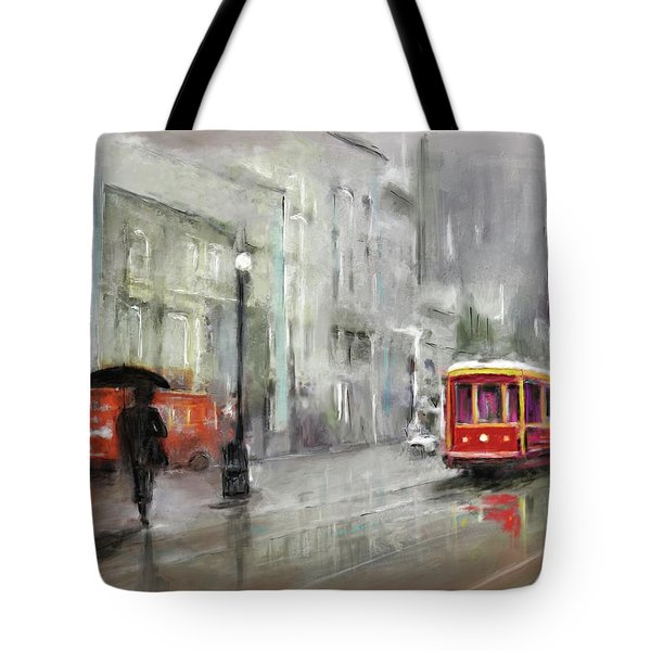 The Woman In The Rain Tote Bag