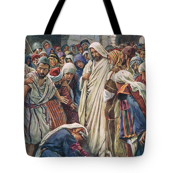 The Woman Who Touched The Hem Of His Garment Tote Bag