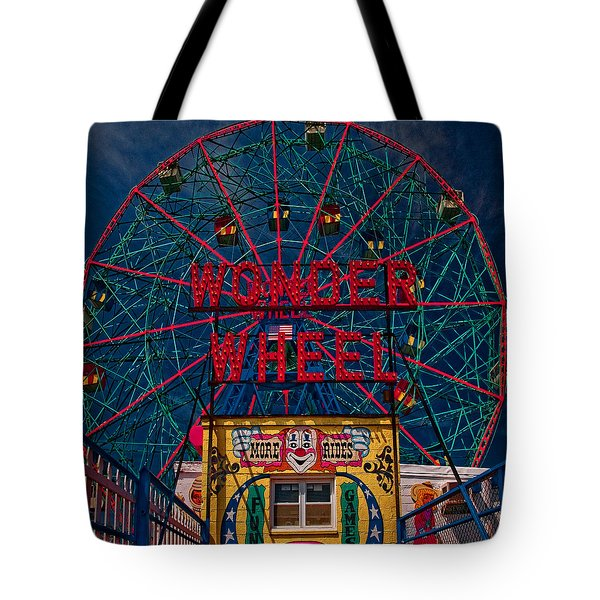 The Wonder Wheel At Luna Park Tote Bag