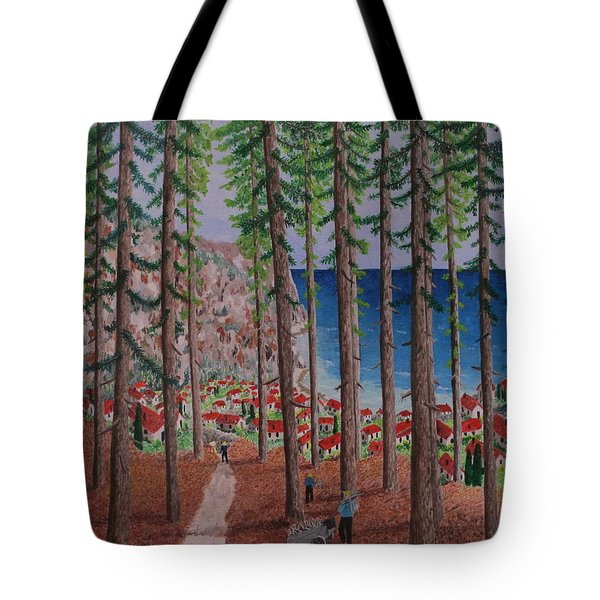 The Wood Collectors Tote Bag by Hilda and Jose Garrancho