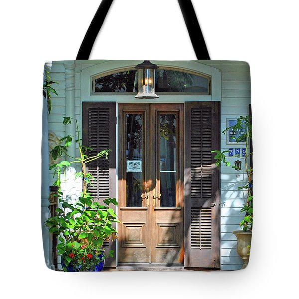 Tote Bag featuring the photograph The Wood Doors by Jost Houk
