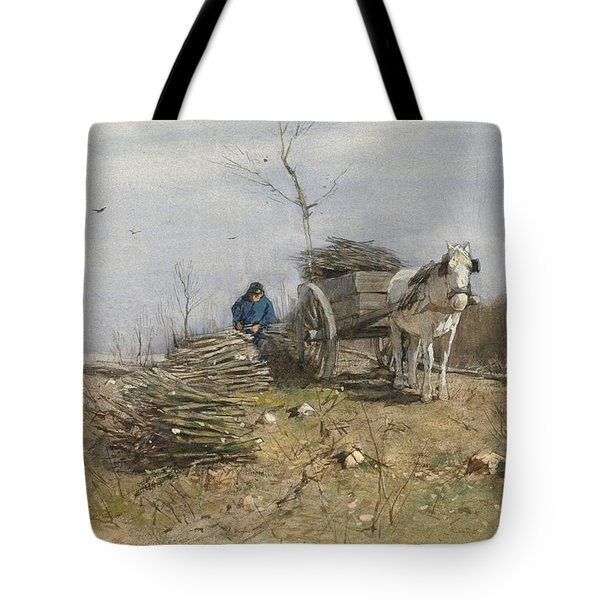 The Wood Gatherer Tote Bag