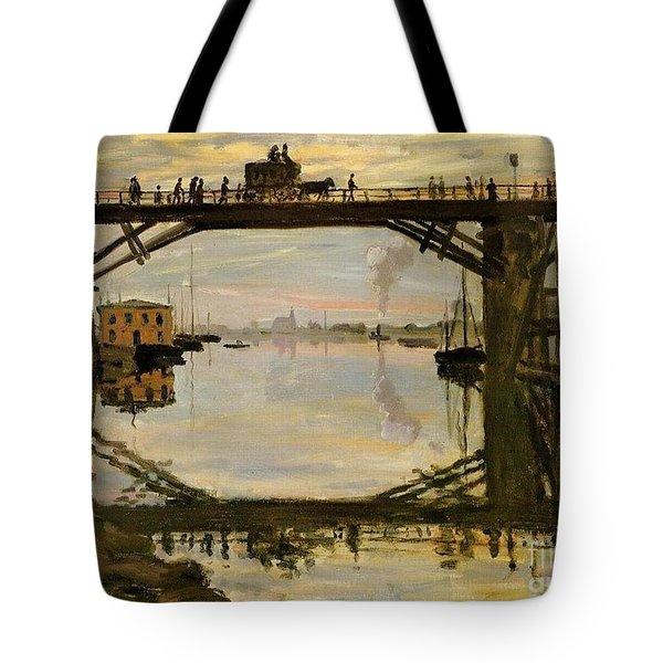 The Wooden Bridge Tote Bag by Monet