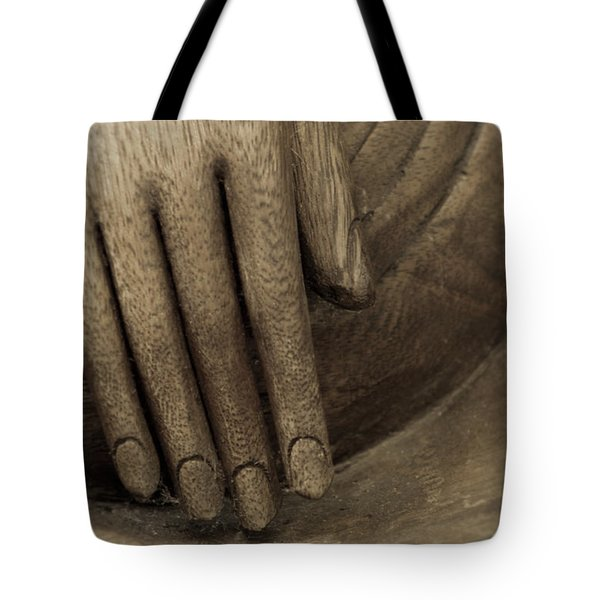 Tote Bag featuring the photograph The Wooden Hand Of Peace by Beauty For God