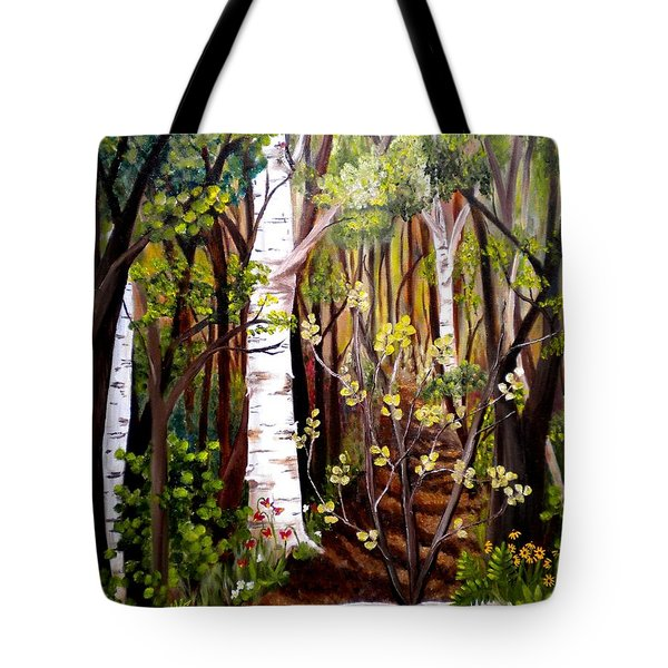 The Woodland Trail Tote Bag by Renate Nadi Wesley