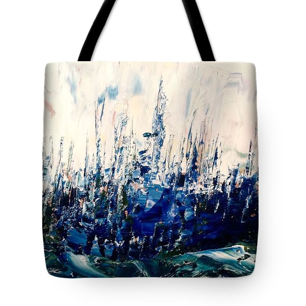 The Woods - Blue No.3 Tote Bag