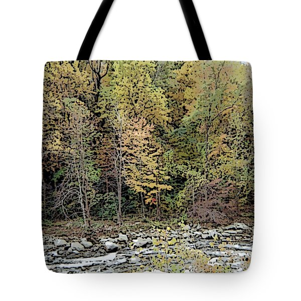 Tote Bag featuring the photograph The Woods by Skyler Tipton