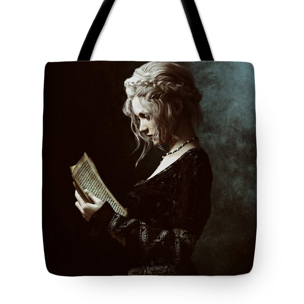Tote Bag featuring the digital art The Word by Shanina Conway