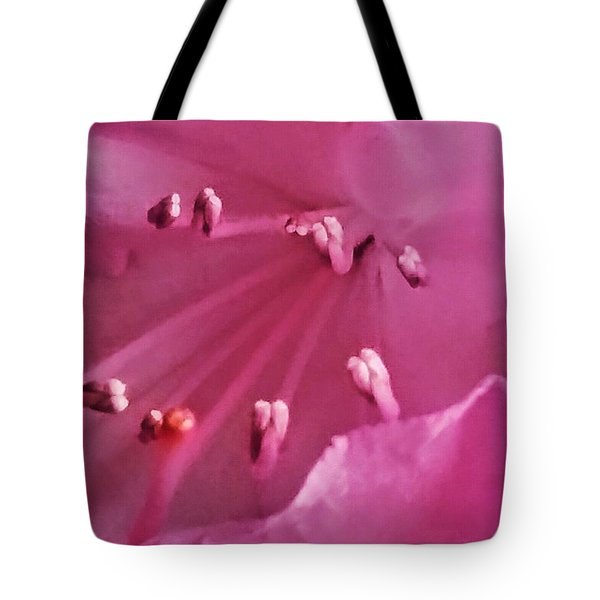 Tote Bag featuring the photograph The World Inside A Flower  by Lori  Lovetere