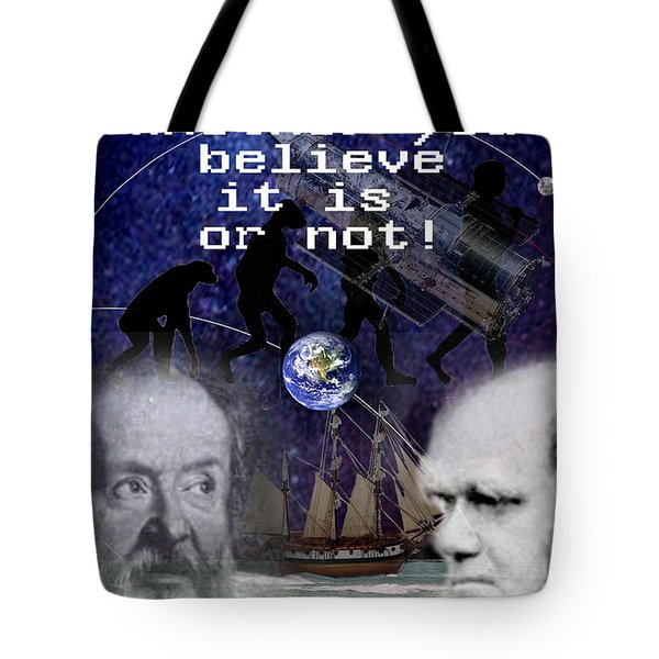 The World Is Round Tote Bag by Steve Karol