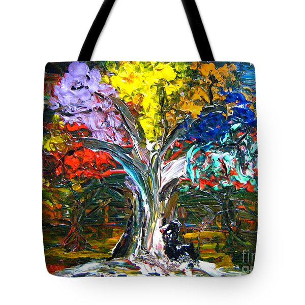 The World Moves For Love By Colleen Ranney Tote Bag