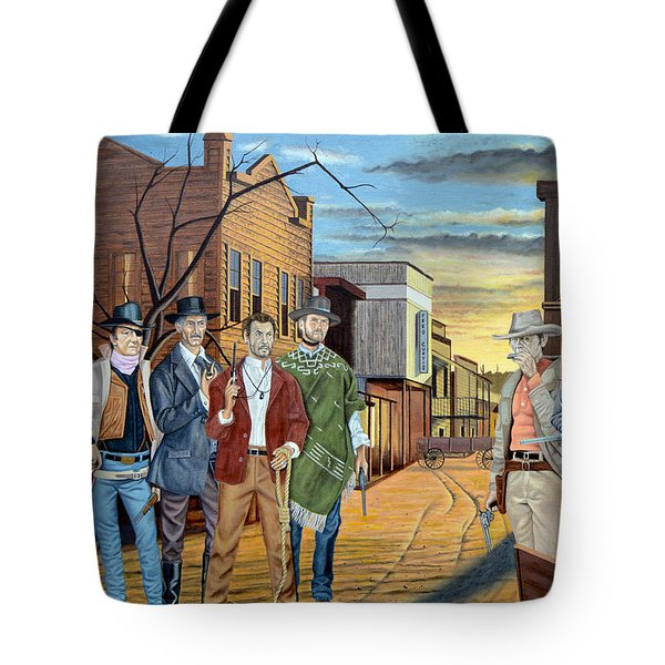 The World Of Classic Westerns Tote Bag by Tony Banos