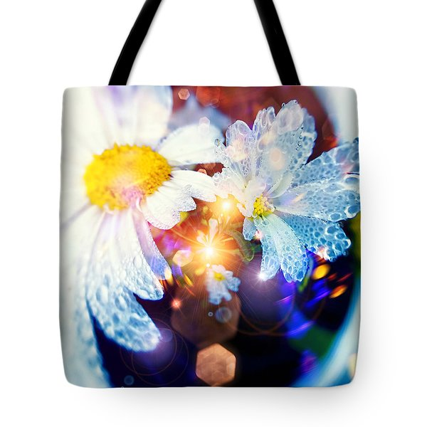 The World Of Dancing Flowers Tote Bag by Mikko Tyllinen