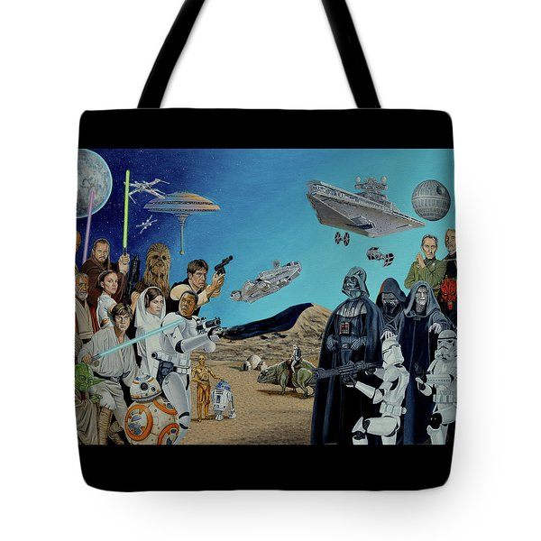 The World Of Star Wars Tote Bag by Tony Banos