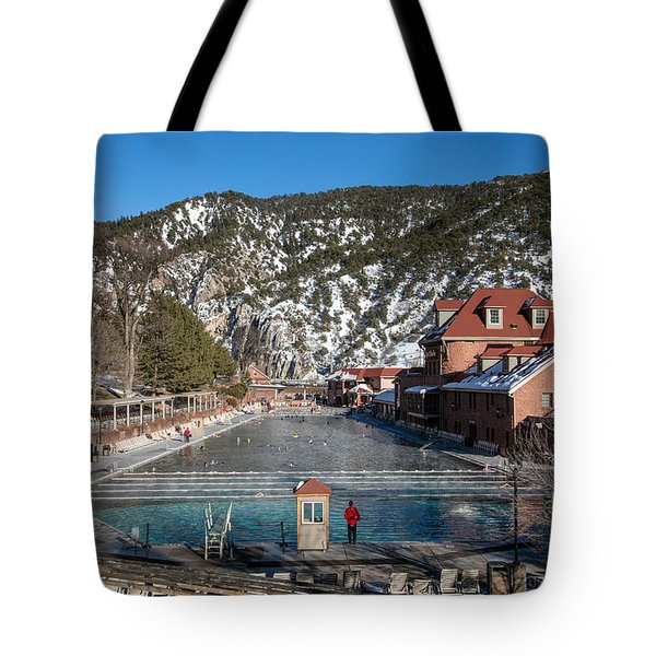 The World's Largest Hot-springs Pool At The Spa Of The Rockies In Glenwood Springs Tote Bag