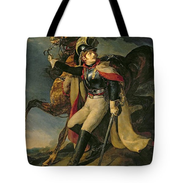 The Wounded Cuirassier Tote Bag by Theodore Gericault