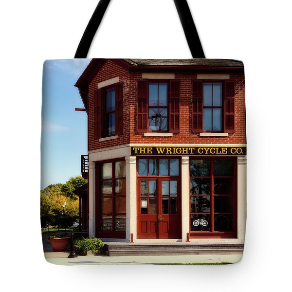 The Wright Cycle Co. - Dayton Ohio Tote Bag