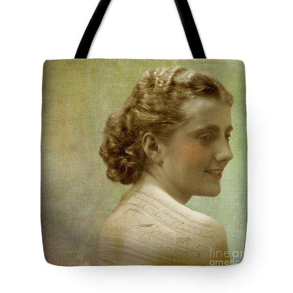 The Writer Tote Bag by Martine Roch