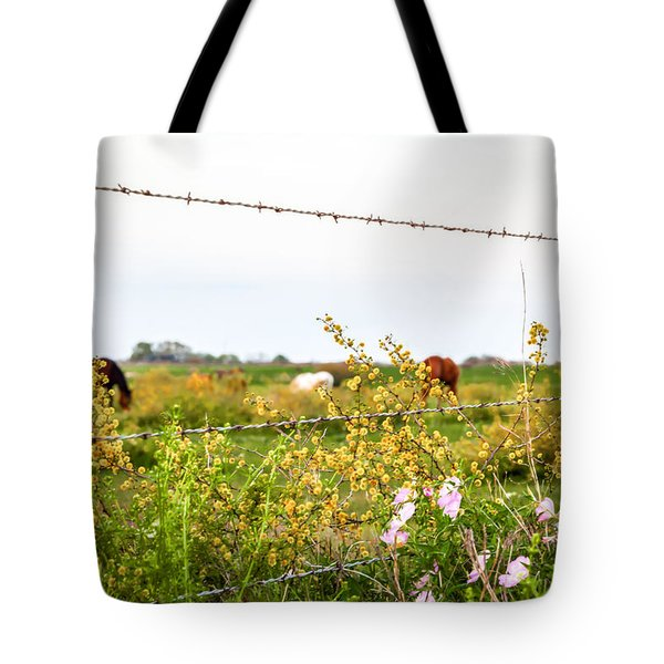 Tote Bag featuring the photograph The Wrong Side Of The Fence by Melinda Ledsome