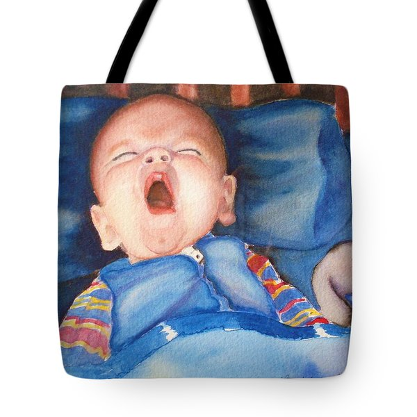 The Yawn Tote Bag by Marilyn Jacobson