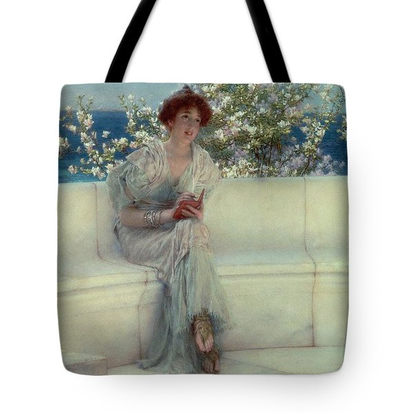 The Year's At The Spring -  All's Right With The World Tote Bag by Sir Lawrence Alma-Tadema