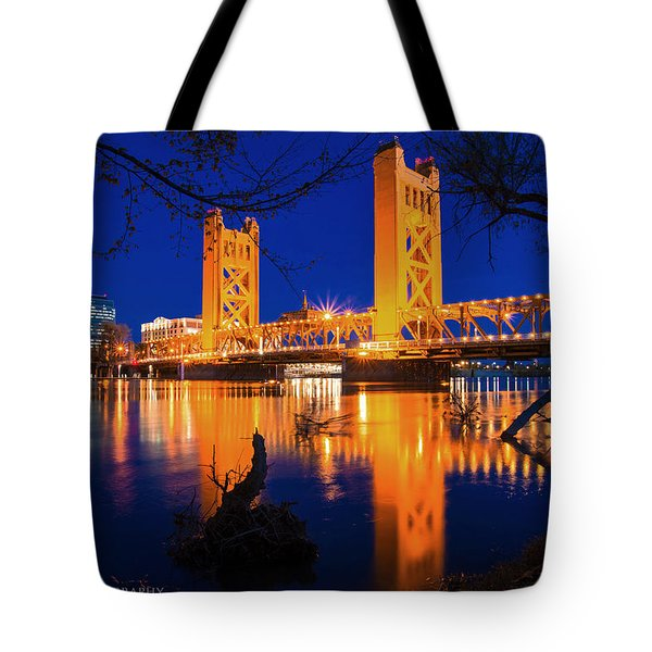 The Yellow Bridge  Tote Bag