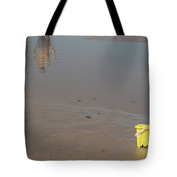 Tote Bag featuring the photograph The Yellow Bucket by Ana Mireles