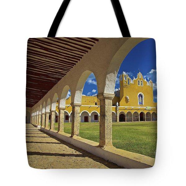 The Yellow City Of Izamal, Mexico Tote Bag by Sam Antonio Photography