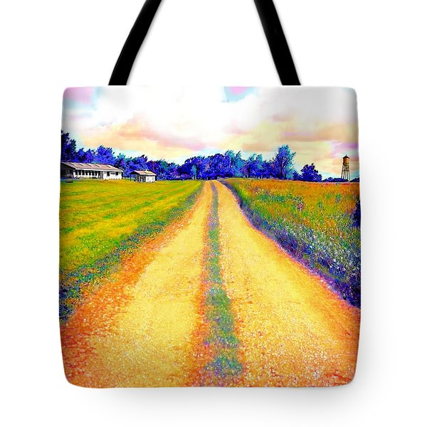 The Yellow Dirt Road Tote Bag by Jann Paxton