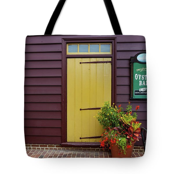 The Yellow Door In Annapolis Tote Bag
